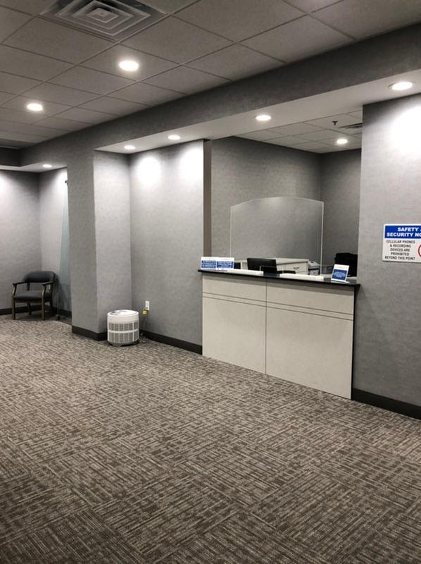 Check-In Desk with protective guard